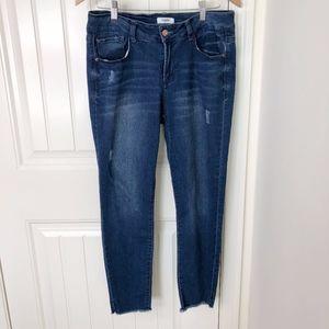 Kensie Jeans Raw Hem Skinny Size 10/30 Inseam 27